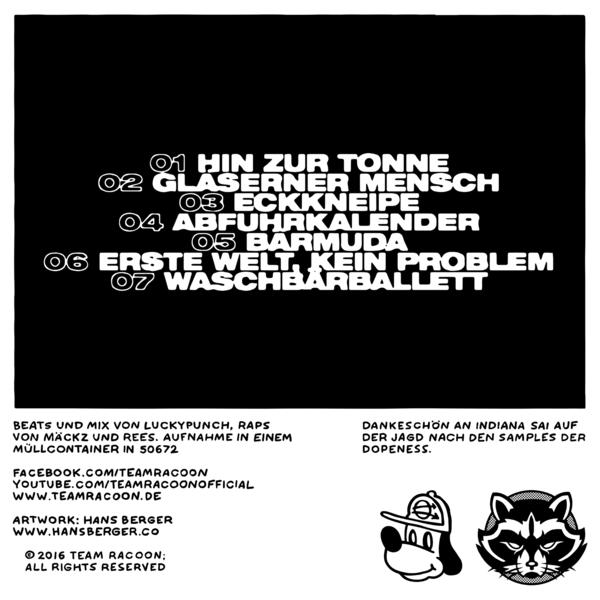 Team Racoon - Tonne Mond & Sterne EP Back