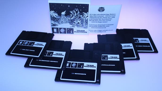 Tonne Mond und Sterne Premium Edition Floppy Disk